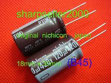 1P ORIGINAL Nichicon 420V 120UF Electrolytic Capacitors 18X30mm (B45)