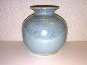 Vase Kugelvase Silberdistel 124/11 Studio Pottery Hellblau Light Blue H: 12,3 cm