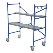 WERNER PS-48 Portable Scaffold,4 ft. H,Steel