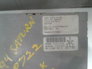 Audio Equipment Radio Am-fm-cd-equalizer Fits 91-94 SATURN S SERIES 595712