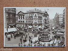 R&L Postcard: Piccadilly Circus London Before Alterations Taxi Horse Tram Shops