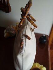 GUCCI Vintage originale - borsa Gucci Bamboo line Handbag leather ivory bag Lady