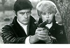 "ALAIN DELON MIREILLE DARC ""JEFF"" PHOTO DE PRESSE CINEMA CP"