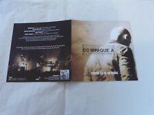 DOMINIQUE A - SUR NOS FORCES MOTRICES !! RARE BIOGRAPHIE PROMO!!!!!