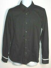 Bmw Signature Black Long Sleeves Fine Cotton Dress Shirt Bmw8635hi