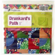 "Matildas Own 5""  Drunkards Path Patchwork Template Set"