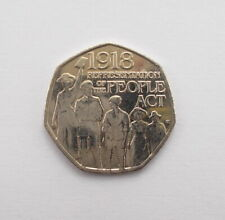 2018 REPRESENTATION OF THE PEOPLE ACT 50 PENCE PIECE - CIRCULATED