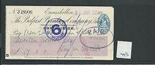 WBC. - ASSEGNO-ch943-Usato -1925 - Belfast Banking Company, enniskillen