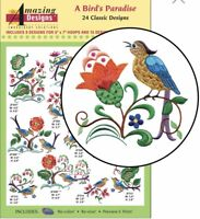 Amazing Design A Bird's Paradise 24 Classic Designs ADC-224 Brand New Sealed