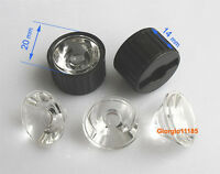 US Stock 10pcs 10 Degree LED Lens For 1W 3W 5W Hight Power LED With Holder Black