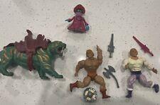 He-Man MOTU vintage lot of figures 1984 Mattel CRINGER ADAM ORCO HE-MAN