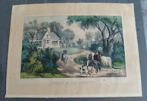 """Original 19th C Currier & Ives litho """"SUMMER IN THE COUNTRY""""  *"""