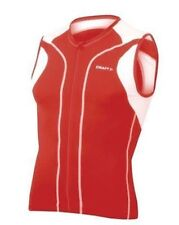 Craft Sports Men's Sleeveless Tri Top Bright Red Small New