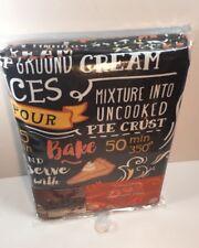 Vinyl PEVA Tablecloth Chalkboard Pumpkin Pie Recipe 70 Inch Round