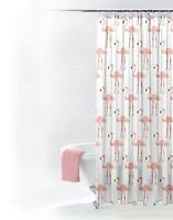 Flamingo Printed Shower Curtain 180x180 12 Hooks included Washable PVC