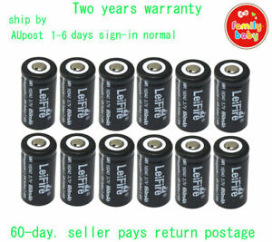 12 x 3.7V CR123A 16340 Rechargeable Battey Fit For LED Torch FlashLight