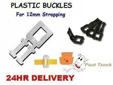 1000 x PLASTIC BUCKLES FOR 12mm HAND PALLET STRAPPING- FREE P&P