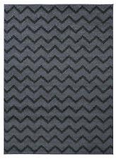 Teppich Kurzflor Hochwertig Muster 6679-Hellgrau Dunkelgrau 80 120 140 160 200