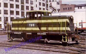 Hoboken Shore GE 44-ton switcher diesel locomotive train railroad postcard
