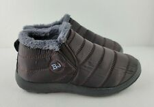 BJ Casual Slip On Quilted Faux Fur Lining Winter Ankle Boots Slippers Womens 39