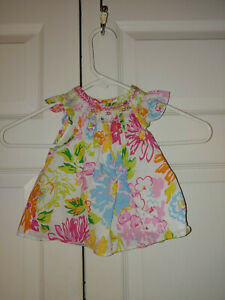 Baby Toddler Girl Ralph Lauren Smocked Flutter Sleeve Summer Top Size 18 Months