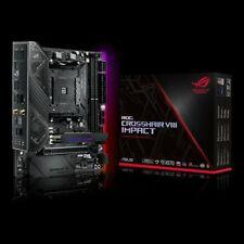 Asus ROG CROSSHAIR VIII IMPACT X570 Motherboard CPU AM4 AMD Ryzen DDR4 Wi-Fi 6