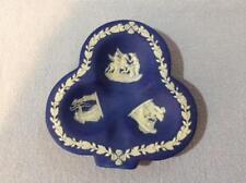Wedgwood cobalt blue jasper dipped club shape ashtray ca 1935