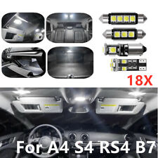 18X Car Error Free White Led Interior Bulb Dome Trunk Light Kit for A4 S4 RS4 B7