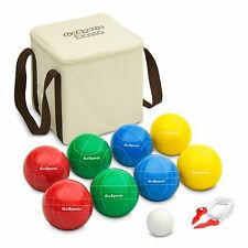 GoSports 90mm Classic Bocce Ball Set - 4 Player Lawn and Beach Game