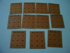 ANTIQUE QUIZ-O GAME CARD LOT 11 CARDS REPLACEMENT PIECES