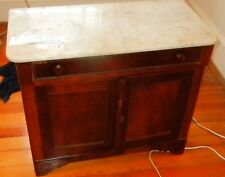 Antique marble top washstand cabinet VICTORIAN American   1880