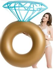 Inflatable Diamond Ring Pool Float - Engagement Ring Bachelorette Party Float St