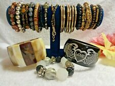 ~ Assorted Types & Materials #P.2 Vintage To Now Fashion Jewelry Bracelet Lot