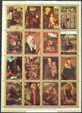 Umm-Al-Qiwain 1973 Paintings, Colour Shift Error Cto Used Sheet #V11513
