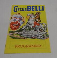 Programma Circus / programm Belli 50/60's / 11 pagina's