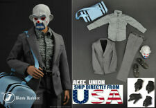 1/6 Joker Heath Ledger Outfits Mask Gloved Hands Set For DX01 DX11 Hot Toys USA