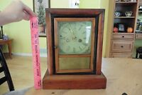 Antique Gilbert Manf 8 day 30 hr Clock Winsted Conn Jewelry box Possble wooden