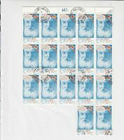Rep. Du Mali Alex. Bell Telephone Stamps Decoupage Crafts or Collect Ref 28359