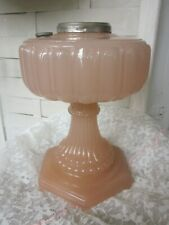 Antique Aladdin Pink Rose Moonstone Cathedral Lamp Shade Globe