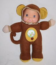 "Goldberger Baby's First Sing & Learn MONKEY DOLL 12"" ABCs & 123s Crinkle 9210"