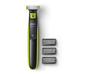 Philips QP2525/10 Cordless OneBlade Hybrid Trimmer and Shaver (Lime Green)