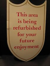 Walt Disney World Construction Wooden Sign Prop Used for Magic Kingdom Rehabs