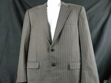 Hickey Freeman  Loro Piana Tasmanian Super 130's Charcoal Pinstripe Suit 41 Reg