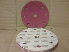 """P40 Hook & Loop Abrasive Discs   150mm 9 hole  Pack (15)    6"""" Sanding Pads"""