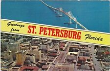 Greetings from St. Petersburg, Florida with Sunshine Skyway Bridge and Downtown