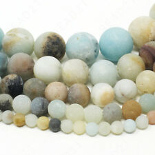 "Matte Natural Gemstone Beads Round Frosted 4mm 6mm 8mm 10mm 12mm 15.5"" Strand"