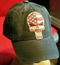 USA Punisher Flag Low Profile Pigment Dyed Unstructured Cotton Twill Hat