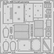 Eduard 1/35 British X-Craft Submarine etch for Merit # 53153