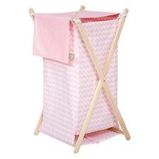 Hamper Set Pink Nursery Baby Girls Decor Laundry Organizer Storage Gift New