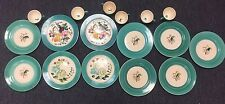 VERY RARE~Colorful Hand Painted 1930s EDITH COCKCROFT COCKEROFT 17 PCS~SIGNED